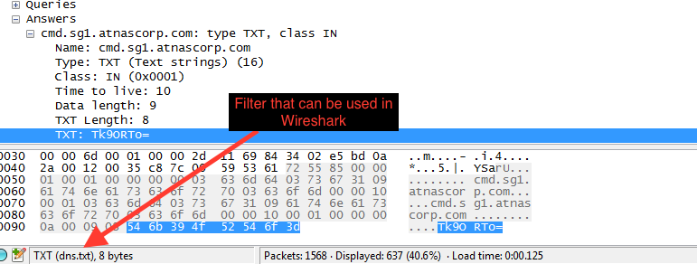 Filter for this in Wireshark